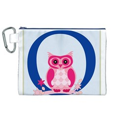 Alphabet Letter O With Owl Illustration Ideal For Teaching Kids Canvas Cosmetic Bag (xl)