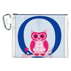 Alphabet Letter O With Owl Illustration Ideal For Teaching Kids Canvas Cosmetic Bag (XXL)