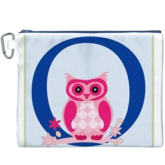 Alphabet Letter O With Owl Illustration Ideal For Teaching Kids Canvas Cosmetic Bag (XXXL)