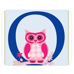 Alphabet Letter O With Owl Illustration Ideal For Teaching Kids Double Sided Flano Blanket (medium)