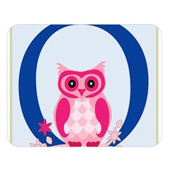 Alphabet Letter O With Owl Illustration Ideal For Teaching Kids Double Sided Flano Blanket (large)