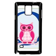 Alphabet Letter O With Owl Illustration Ideal For Teaching Kids Samsung Galaxy Note 4 Case (black)