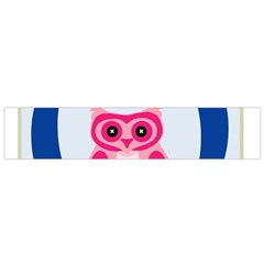 Alphabet Letter O With Owl Illustration Ideal For Teaching Kids Flano Scarf (Small)