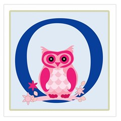 Alphabet Letter O With Owl Illustration Ideal For Teaching Kids Large Satin Scarf (Square)