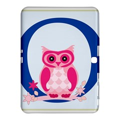 Alphabet Letter O With Owl Illustration Ideal For Teaching Kids Samsung Galaxy Tab 4 (10 1 ) Hardshell Case