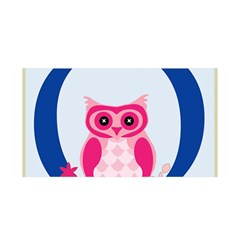 Alphabet Letter O With Owl Illustration Ideal For Teaching Kids Satin Wrap