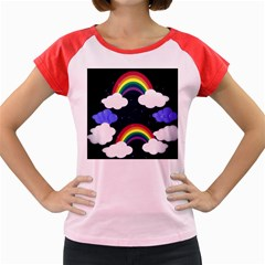 Rainbow Animation Women s Cap Sleeve T-Shirt