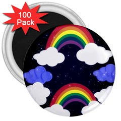 Rainbow Animation 3  Magnets (100 Pack)