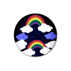 Rainbow Animation Magnet 3  (Round)
