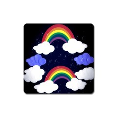 Rainbow Animation Square Magnet