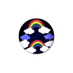 Rainbow Animation Golf Ball Marker
