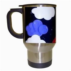 Rainbow Animation Travel Mugs (White)