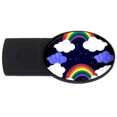 Rainbow Animation USB Flash Drive Oval (4 GB)