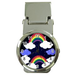 Rainbow Animation Money Clip Watches