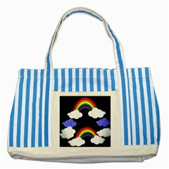Rainbow Animation Striped Blue Tote Bag