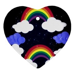 Rainbow Animation Heart Ornament (two Sides)