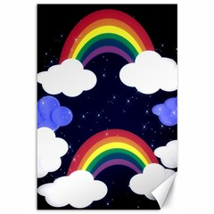 Rainbow Animation Canvas 12  x 18