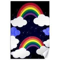 Rainbow Animation Canvas 24  x 36