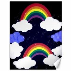 Rainbow Animation Canvas 36  x 48