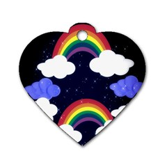 Rainbow Animation Dog Tag Heart (Two Sides)