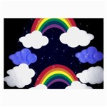 Rainbow Animation Large Glasses Cloth (2-Side) Back