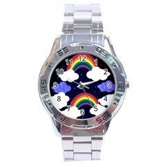 Rainbow Animation Stainless Steel Analogue Watch
