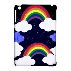Rainbow Animation Apple iPad Mini Hardshell Case (Compatible with Smart Cover)