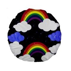 Rainbow Animation Standard 15  Premium Round Cushions