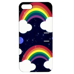 Rainbow Animation Apple iPhone 5 Hardshell Case with Stand