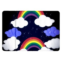 Rainbow Animation Samsung Galaxy Tab 8.9  P7300 Flip Case