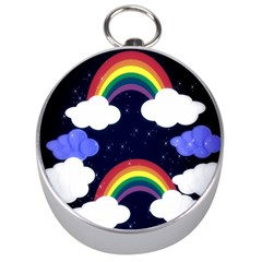 Rainbow Animation Silver Compasses