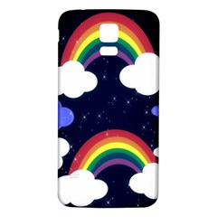 Rainbow Animation Samsung Galaxy S5 Back Case (white)