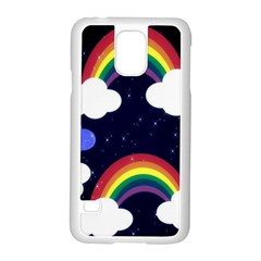 Rainbow Animation Samsung Galaxy S5 Case (white)