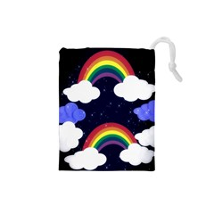 Rainbow Animation Drawstring Pouches (small)