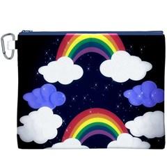 Rainbow Animation Canvas Cosmetic Bag (XXXL)