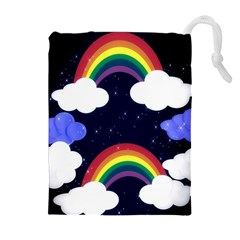 Rainbow Animation Drawstring Pouches (Extra Large)