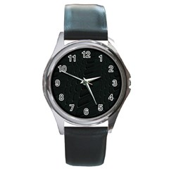 Abstract Clutter Round Metal Watch