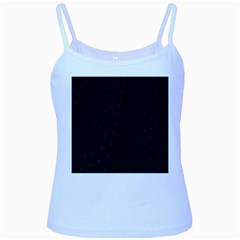 Abstract Clutter Baby Blue Spaghetti Tank