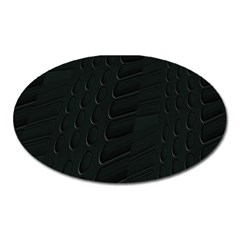Abstract Clutter Oval Magnet