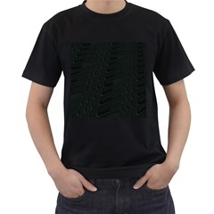 Abstract Clutter Men s T-Shirt (Black) (Two Sided)