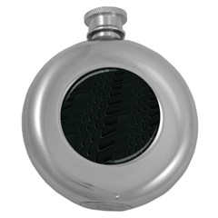 Abstract Clutter Round Hip Flask (5 Oz)