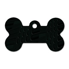 Abstract Clutter Dog Tag Bone (One Side)