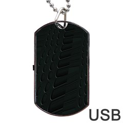 Abstract Clutter Dog Tag Usb Flash (one Side)