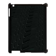 Abstract Clutter Apple Ipad 3/4 Case (black)