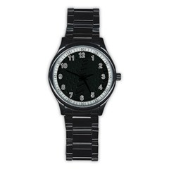 Abstract Clutter Stainless Steel Round Watch