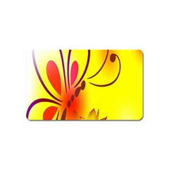 Butterfly Background Wallpaper Texture Magnet (Name Card)
