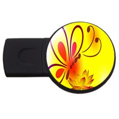 Butterfly Background Wallpaper Texture USB Flash Drive Round (2 GB)