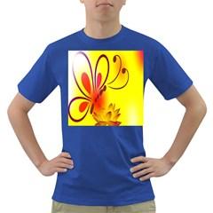 Butterfly Background Wallpaper Texture Dark T-Shirt