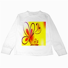 Butterfly Background Wallpaper Texture Kids Long Sleeve T Shirts