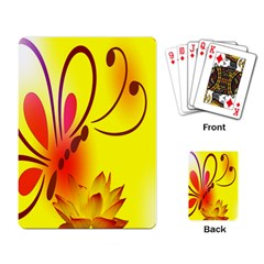 Butterfly Background Wallpaper Texture Playing Card